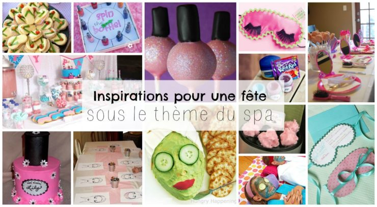 Inspirations for a childrens party under the theme of Spa