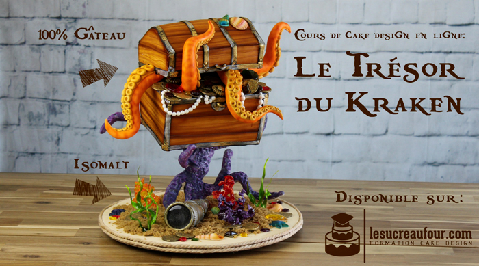Treasure chest pirate cake by Le Sucre Au Four