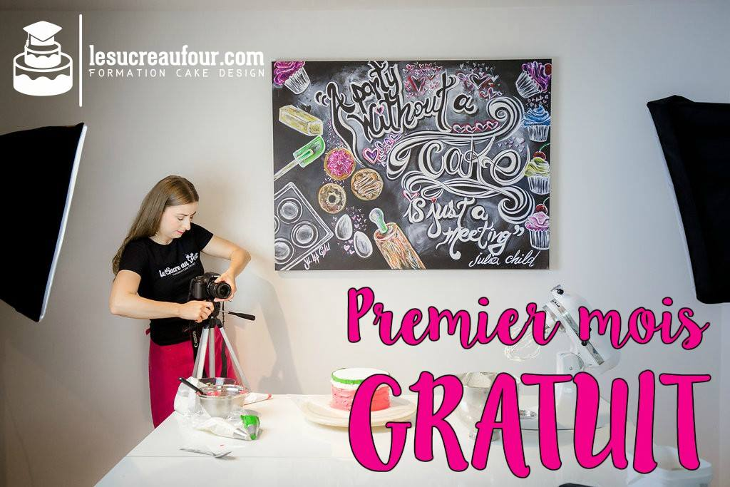 Sandra Major from Le Sucre au Four - cake design online in French