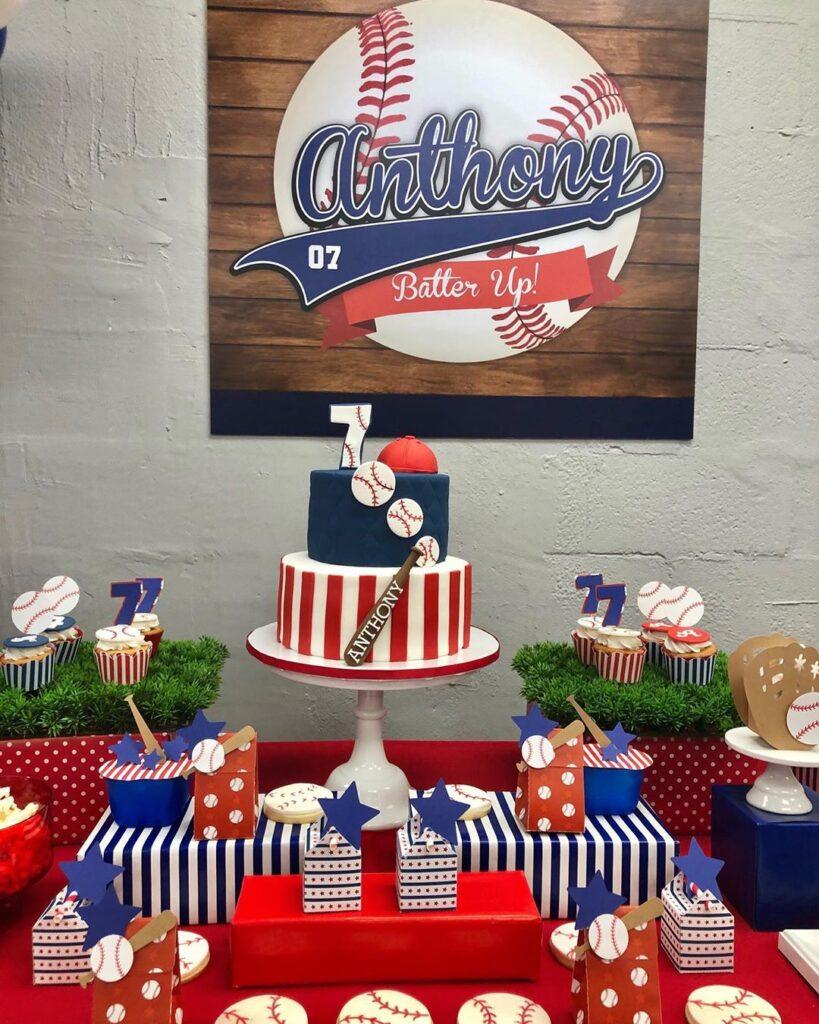 baseball dessert tables