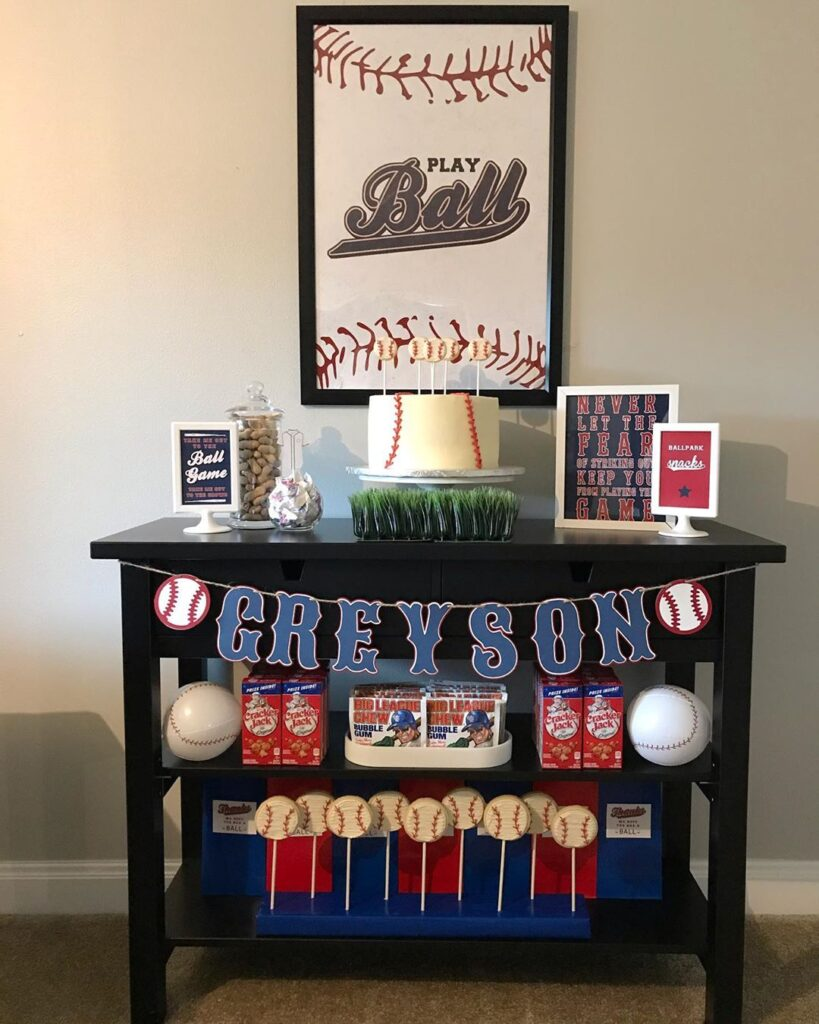 simple baseball party