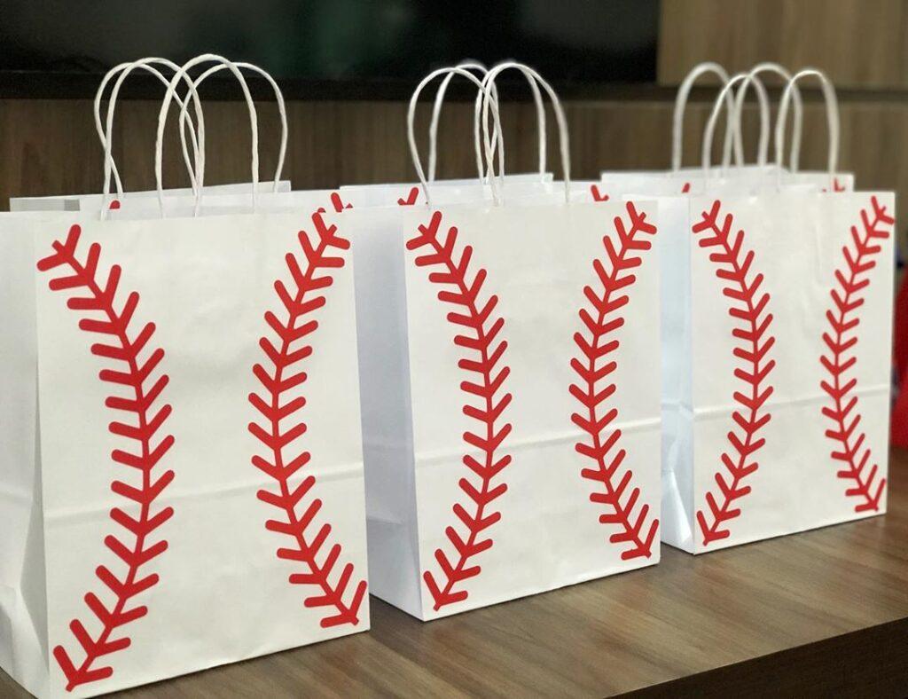baseball candy bag