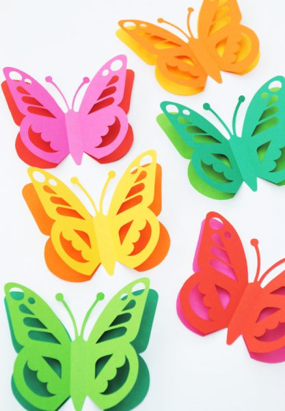 Butterfly Cupcakes.  Butterfly Designs Templates