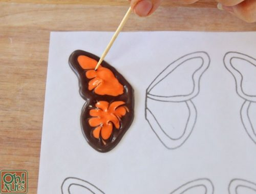 Draw Butterfly Cupcake wings