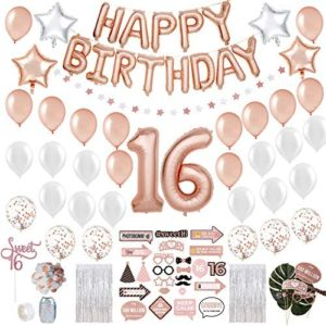 1609562864 16th birthday party decorations Sweet 16 Birthday Decorations with