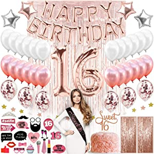 sweet 16 birthday decorations sweet 16 gifts for girls sweet 16 16th birthday decorations for girls