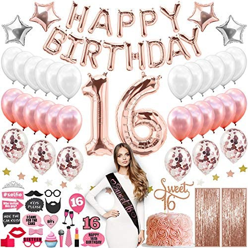 1609569813 16th birthday party decorations Sweet 16 Birthday Decorations With