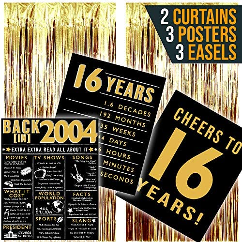1609590344 16th birthday party decorations 2004 Posters Sweet 16 Party