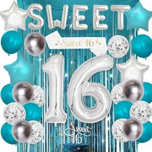 1609672688 16th birthday party decorations Sweet 16 Birthday Decorations Teal