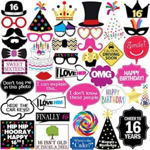 1609714035 16th birthday party decorations 16th Birthday Photo Booth Party