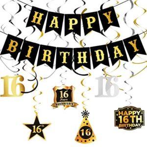 1609720999 16th birthday party decorations 16th Birthday Decorations Happy Birthday