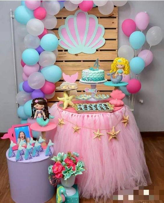 mermaid themed party