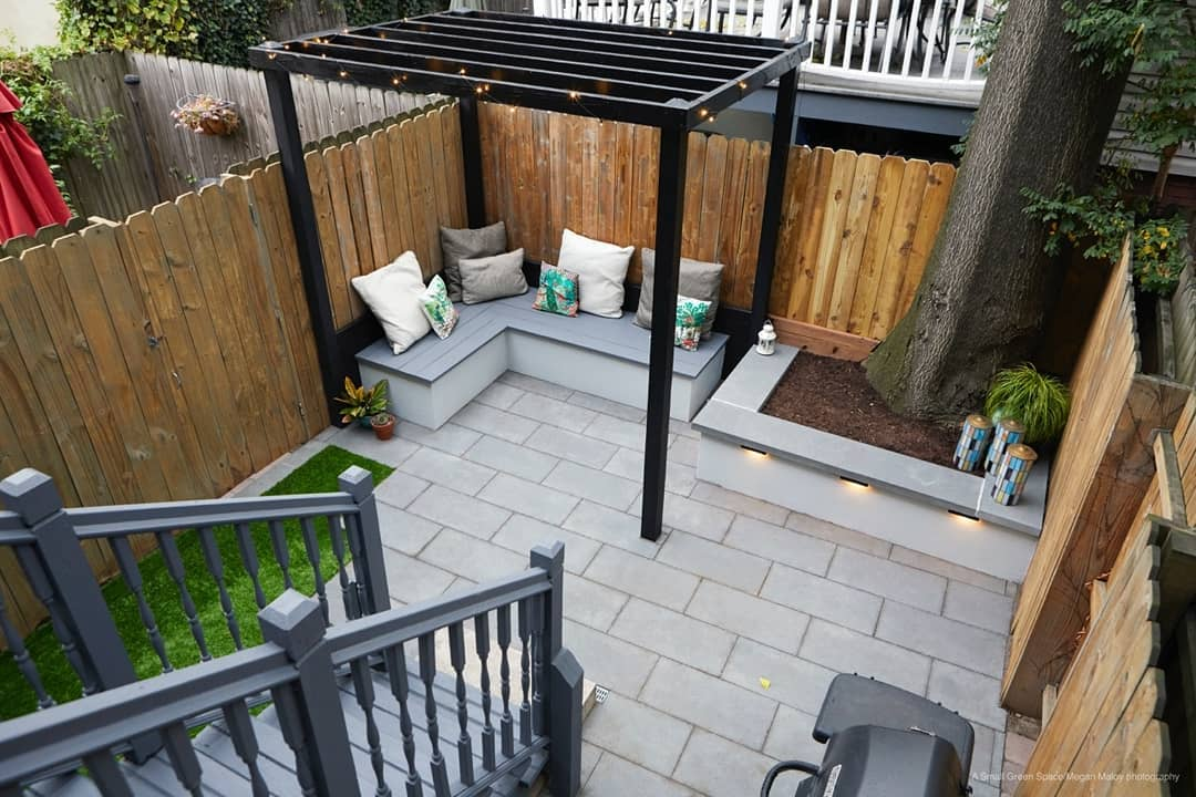 design and decoration of small patios