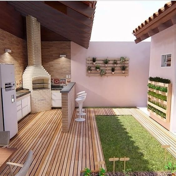 patios with kitchen