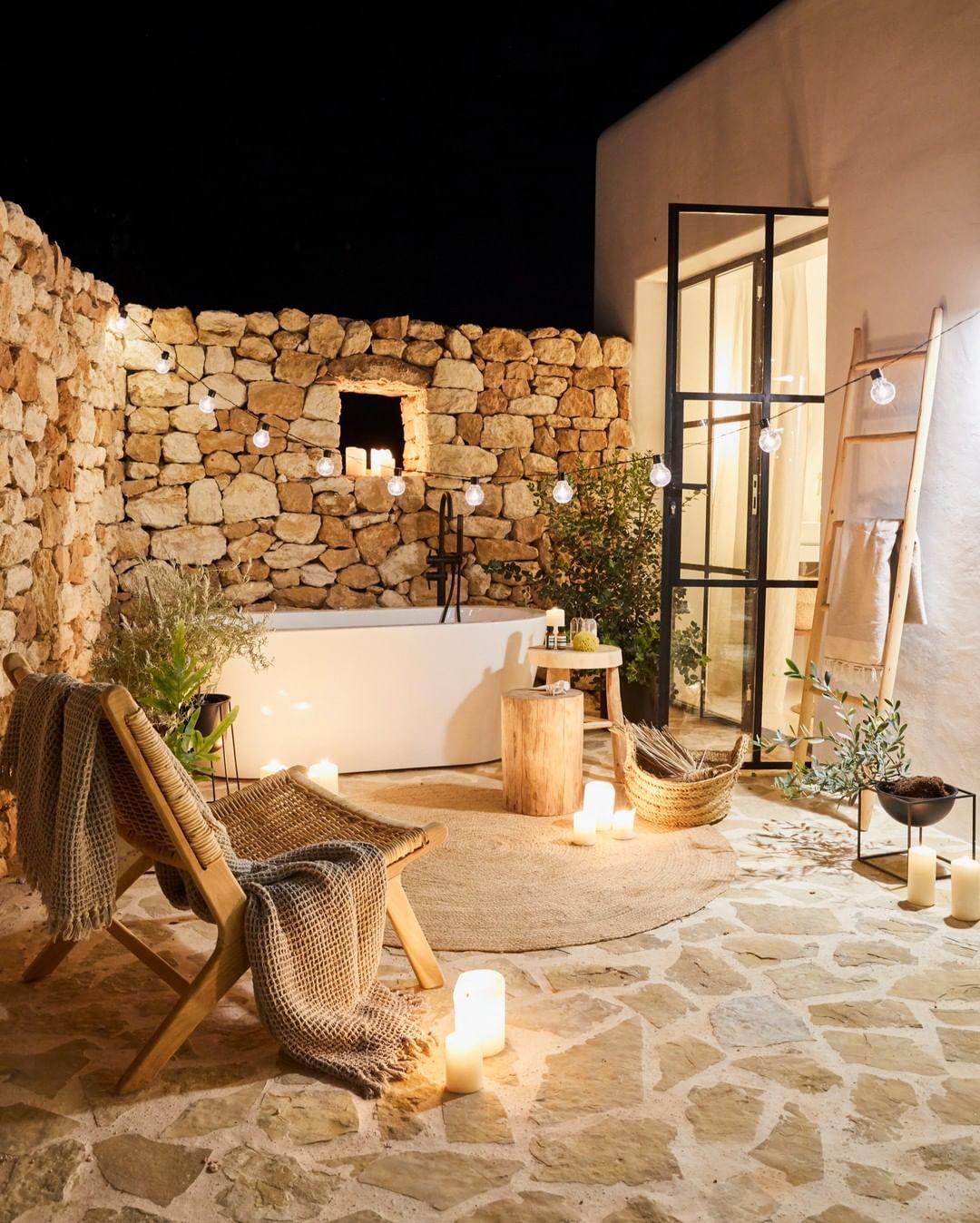 small rustic patios