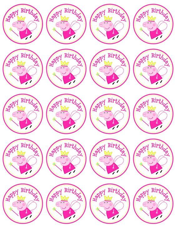 peppa pig labels