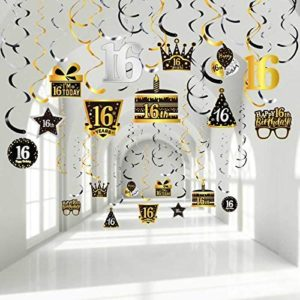 16th birthday party decorations 30 Pieces 16th Birthday Party