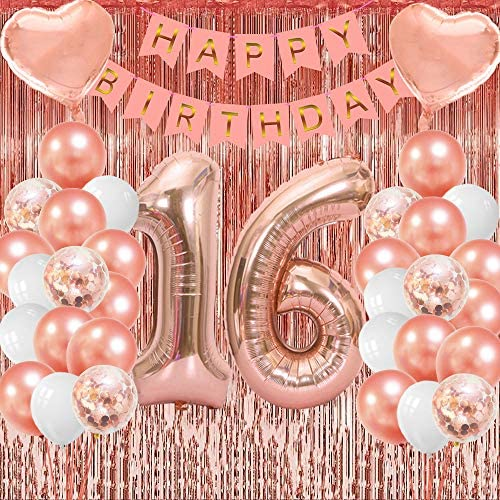 16th birthday party decorations NIUBER Sweet 16 Decorations 16