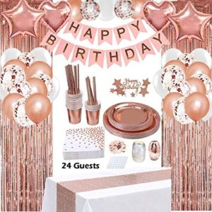 16th birthday party decorations Rose Gold Birthday Party Decorations