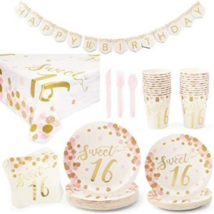 16th birthday party decorations Rose Gold Sweet 16 Birthday