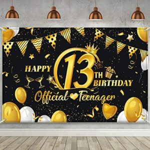 1617245459 13th birthday party decorations 13th Birthday Black Gold Party