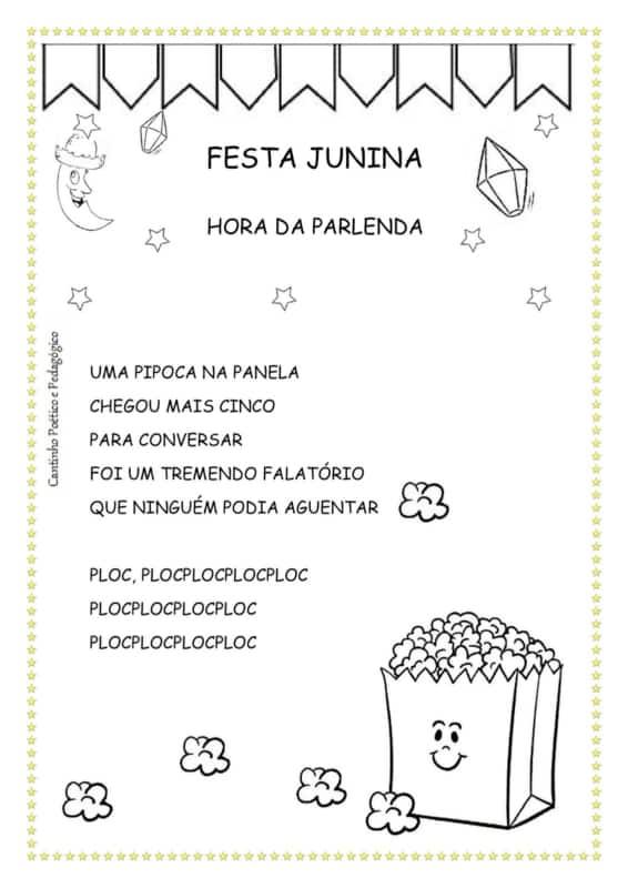 illustrated festa junina coloring page