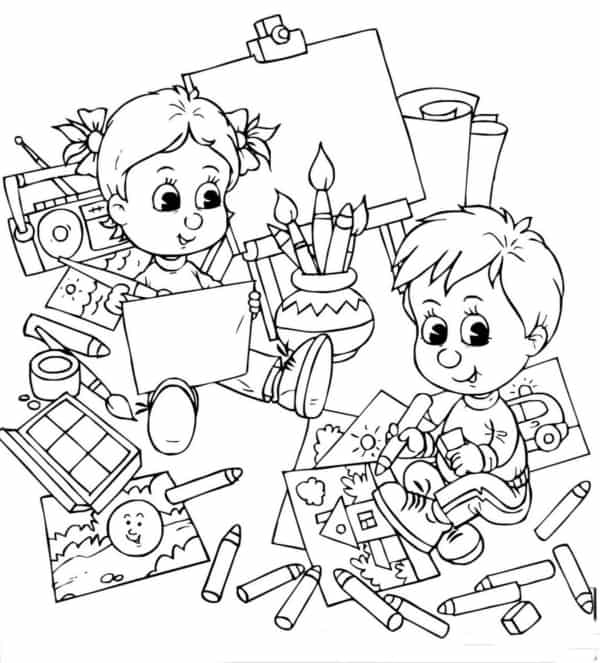 drawing back to school to print for free