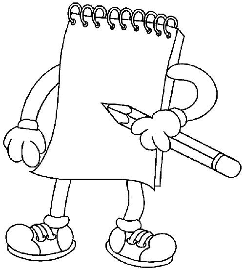 simple back to school coloring page