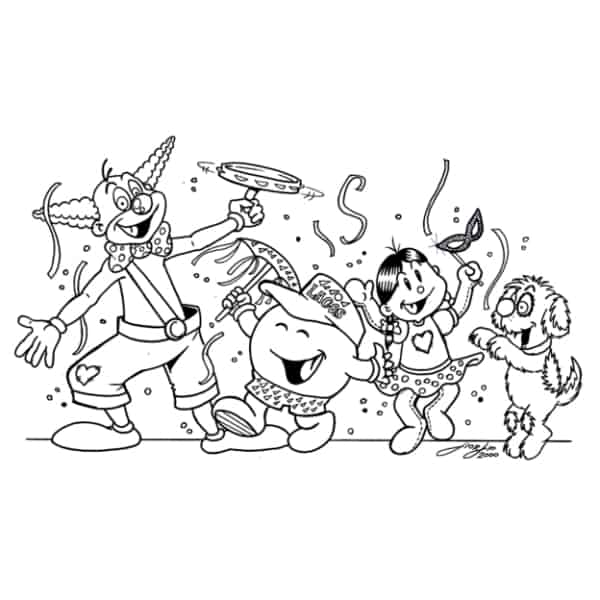carnival block coloring page