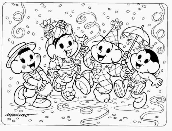 drawing of Monica's carnival class to paint