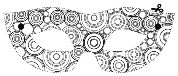 carnival mask to print for free and paint