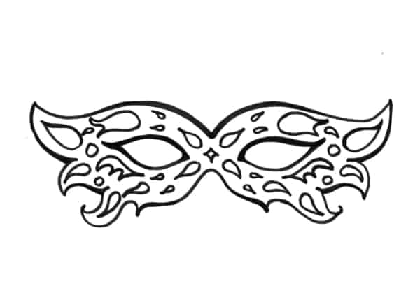 carnival mask for print and color