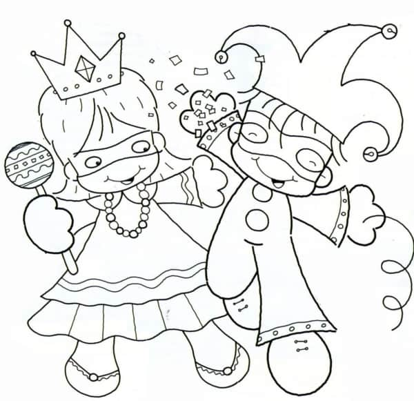 simple carnival coloring page to print and color