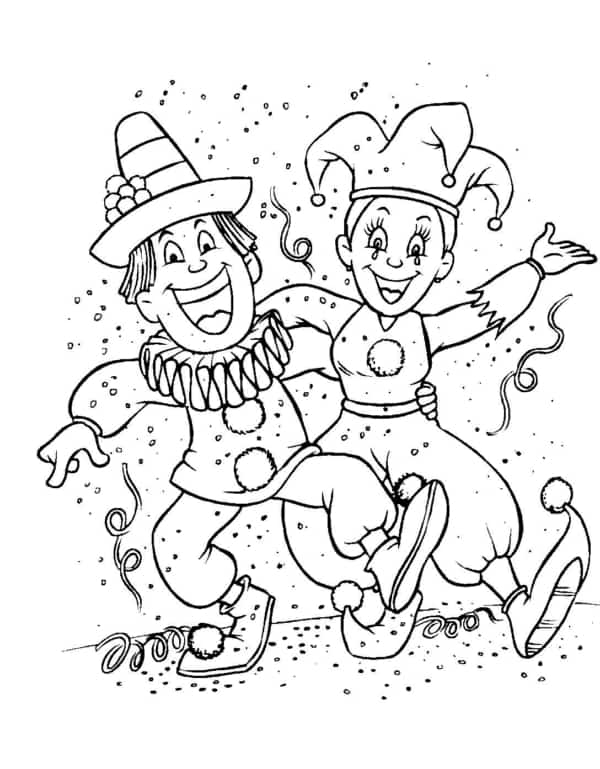 carnival drawing to print and paint