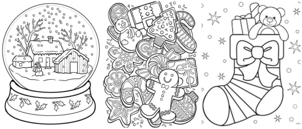 christmas coloring pages free printable and coloring