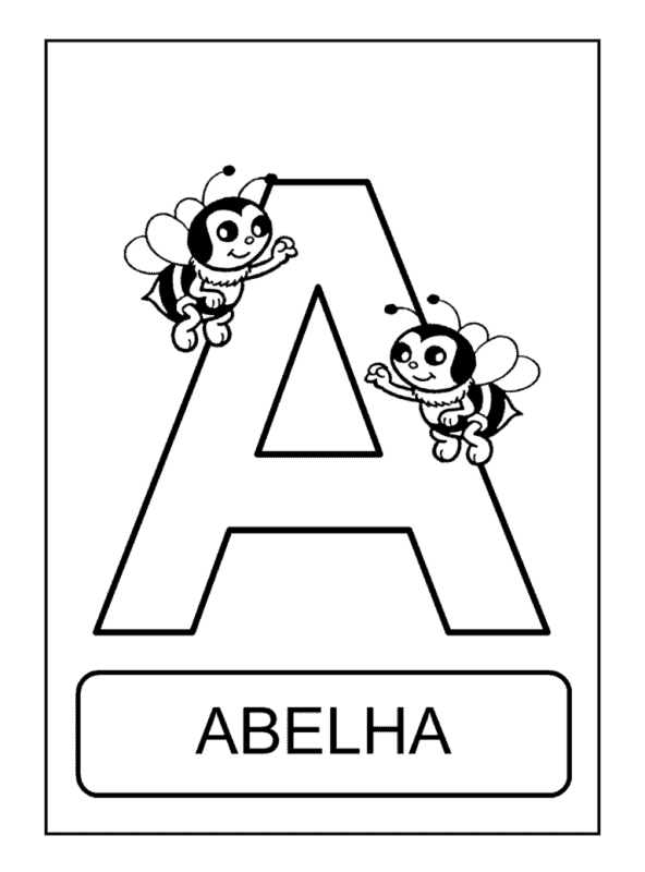 activity with the letter A for coloring