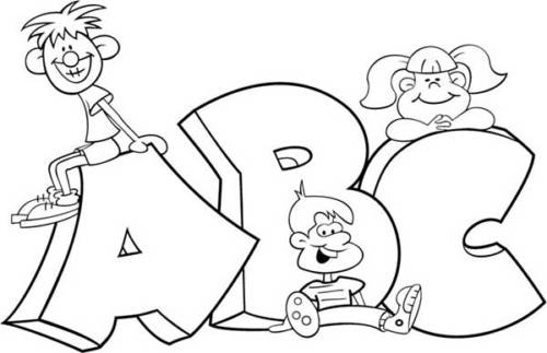 literacy coloring activity