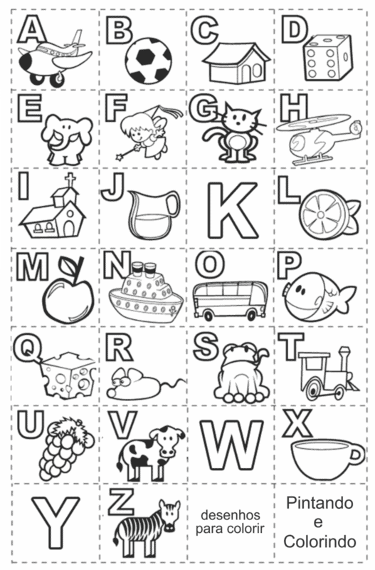 alphabet activity for print and color