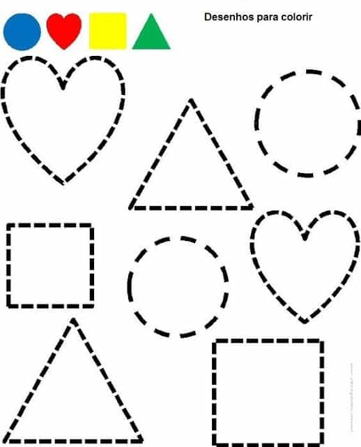 geometric shapes activity for coloring
