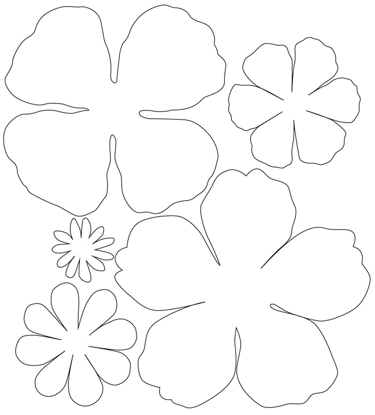 Petal molds for making paper flowers