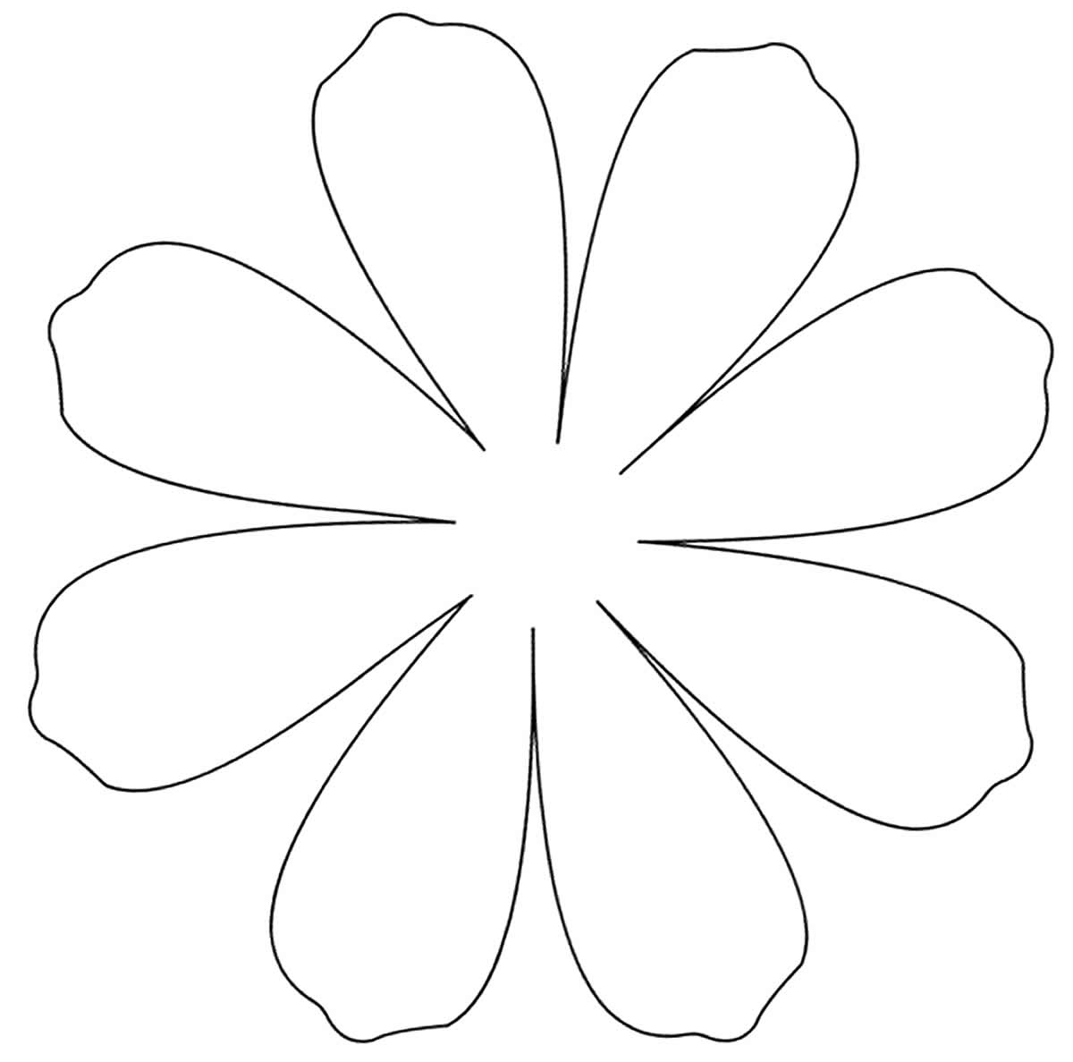 Petal molds for paper flowers