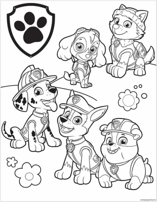 dog patrol drawing for free printable