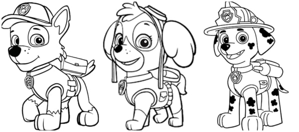canine patrol drawings to print for free