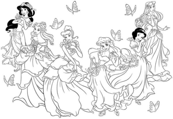 disney princesses to print and color