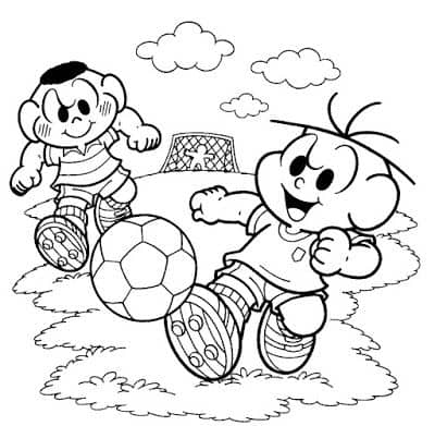 Chives and Cascao coloring page