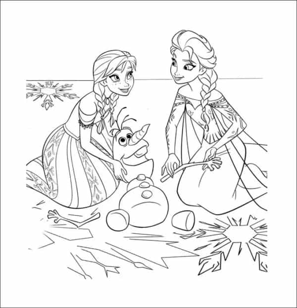 Olaf coloring page
