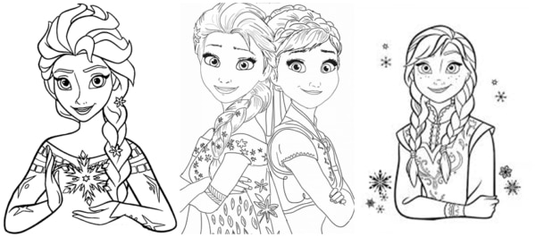 Frozen coloring pages