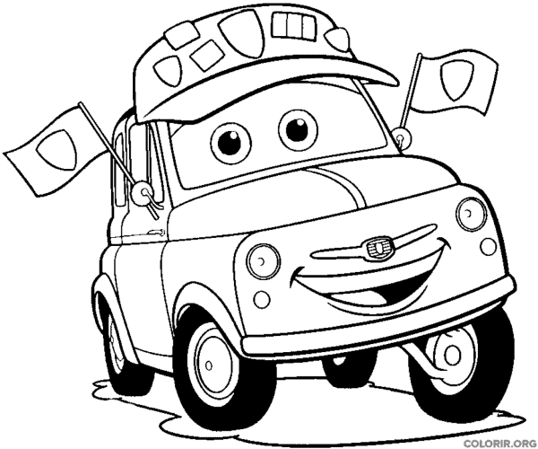 Guido from the movie Cars coloring page