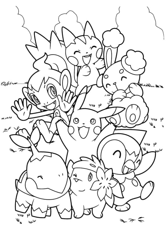 Pokemon drawing to print for free