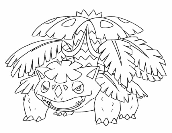 Pokemon coloring page to print and paint